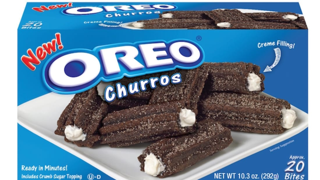 """OREO Creme-filled Churro Bites for retail,"" J&J Snack Foods Corp"