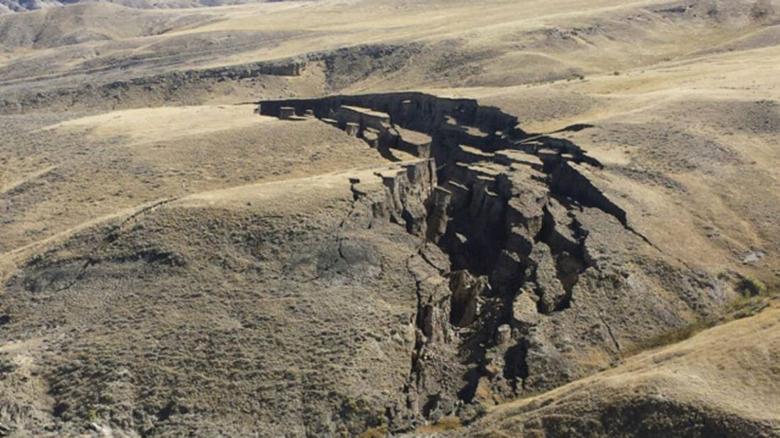 Massive 'Gash' Splits Open Foothills of Bighorn Mountains