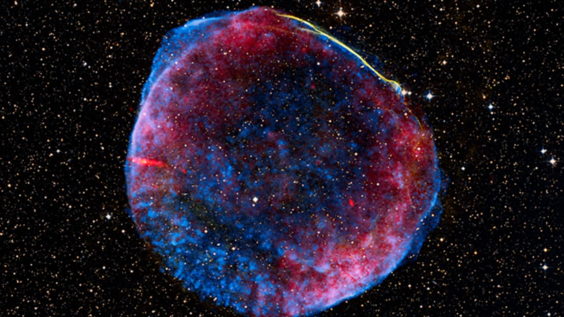X-ray image of the remnants of SN 1006. Image Credit: Wikimedia Commons // Public Domain