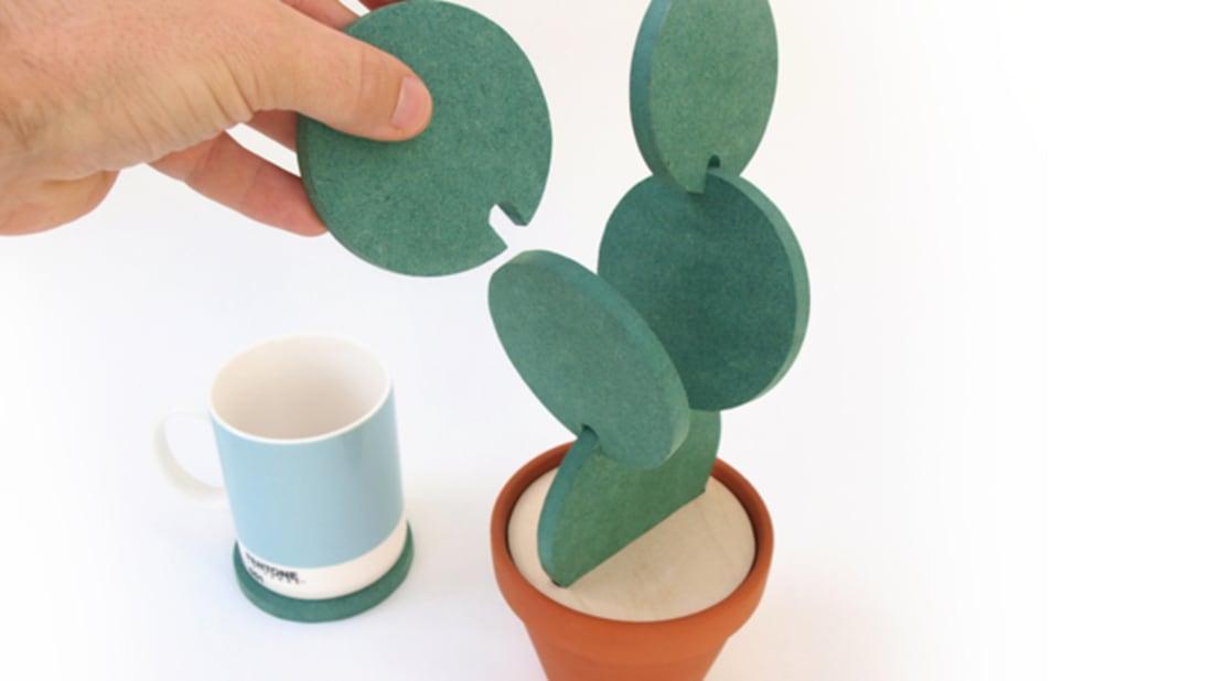 Interlocking Coasters Let You Build a Cactus