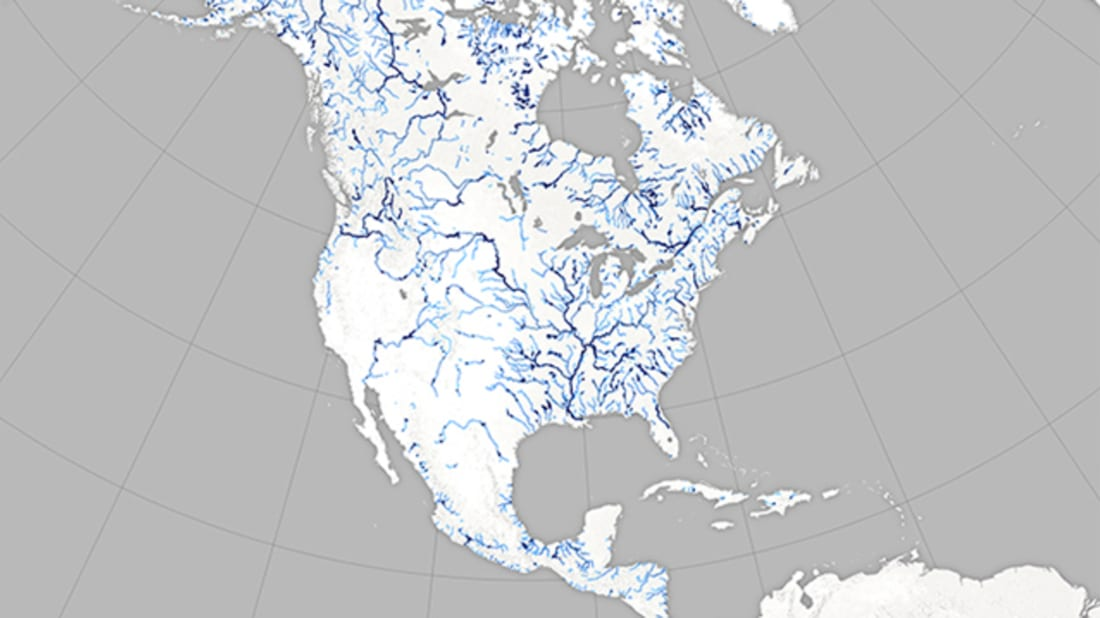 Afternoon Map: Fancy New Maps Show the Width of North America\'s ...