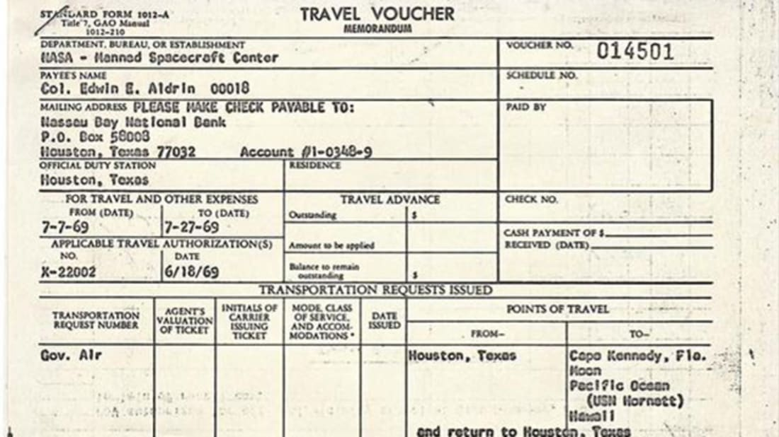 Buzz Aldrin Had to File an Expense Report for His Trip to the Moon