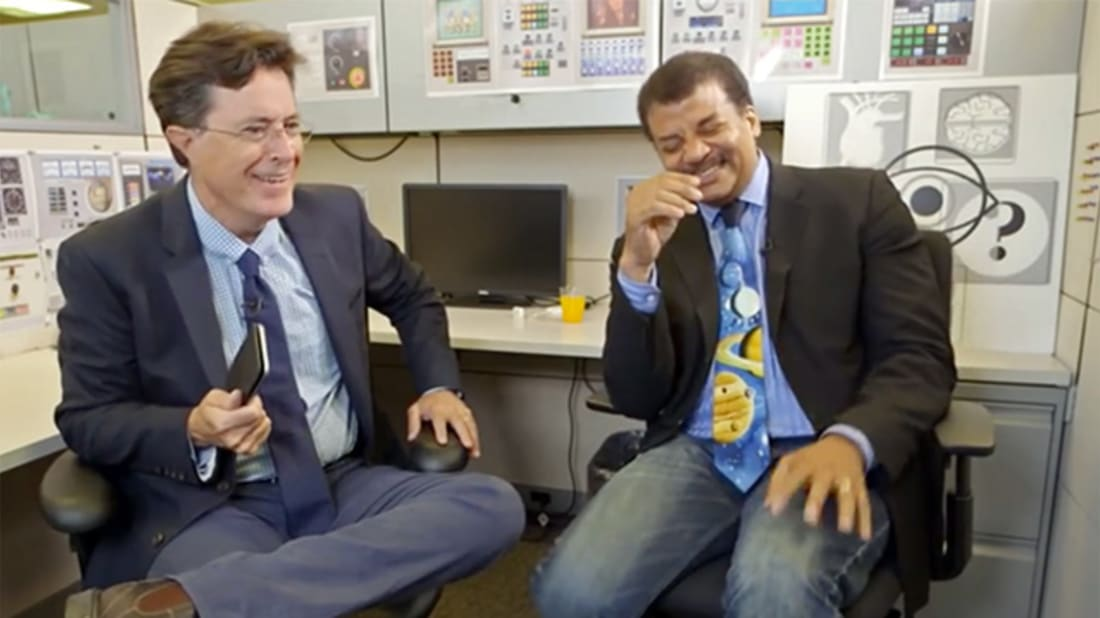 YouTube / Stephen Colbert and Neil DeGrasse Tyson Talk Pluto