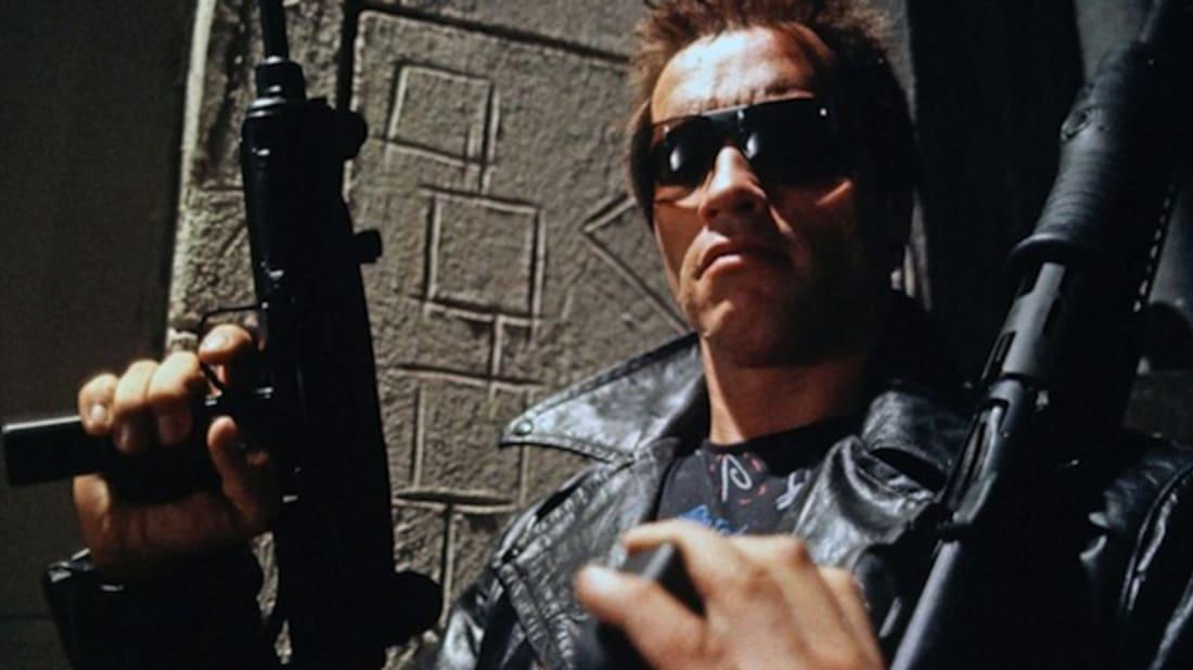 Arnold Schwarzenegger in The Terminator (1984).