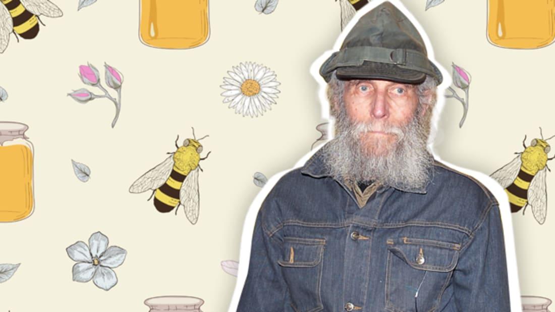 getty images (burt) / istock (bee background)