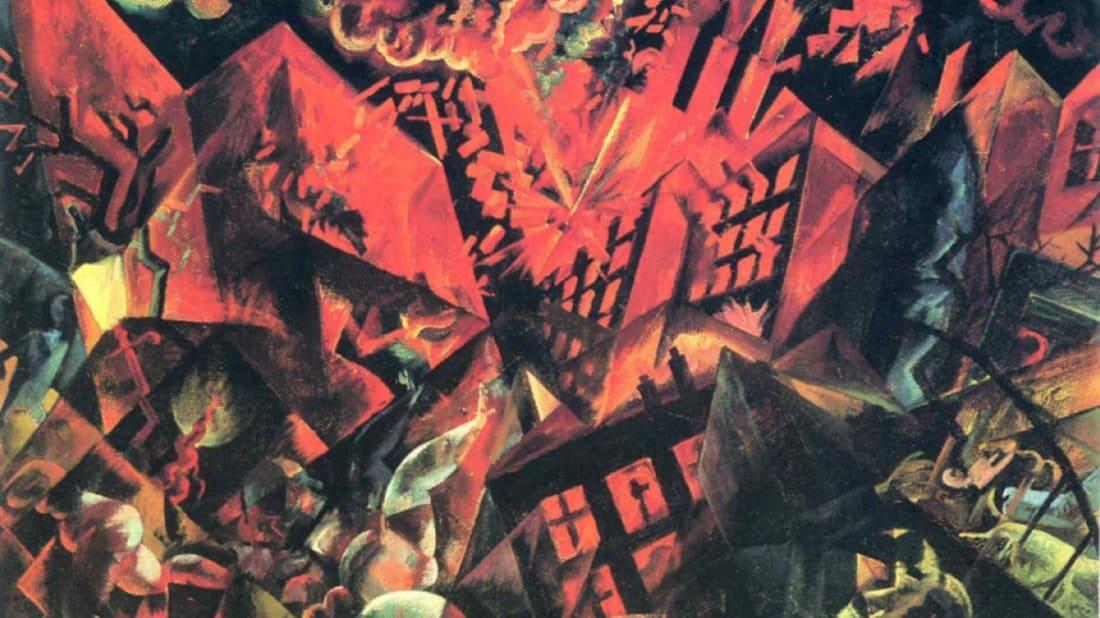 "George Grosz, ""Explosion,"" via Centenaire.org"