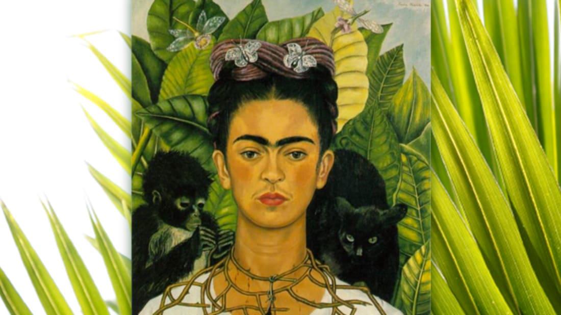 istock (background) / Frida Kahlo (Painting)