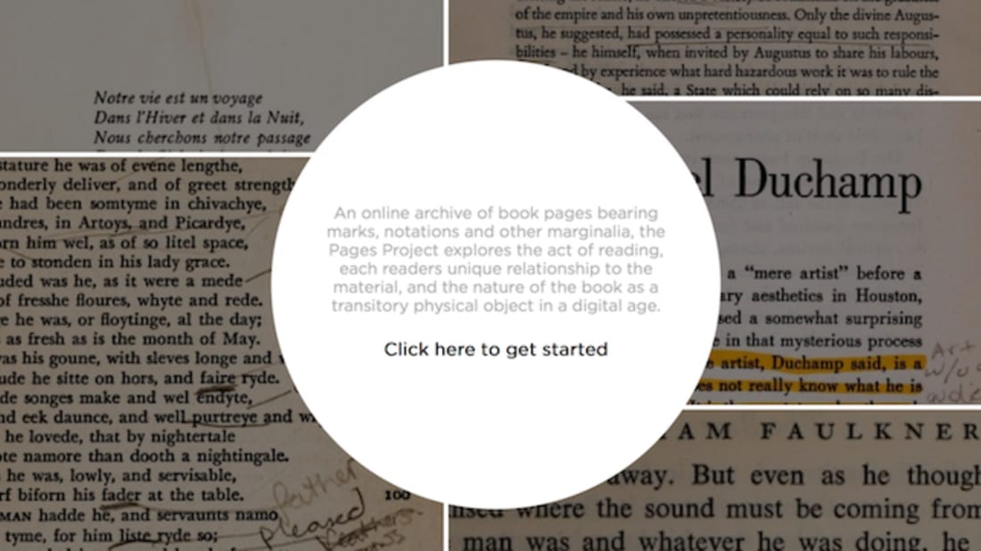 Screenshot: The Pages Project