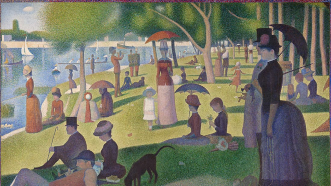 Georges Seurat. A Sunday on La Grande Jatte — 1884, 1884/86. The Art Institute of Chicago. Helen Birch Bartlett Memorial Collection.