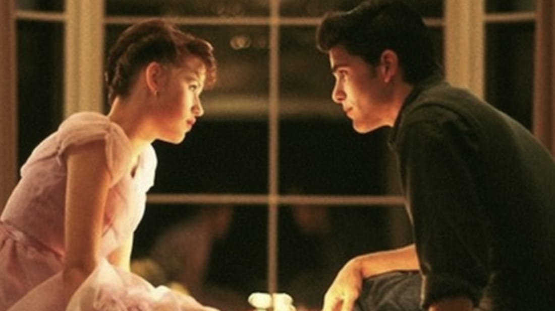 Molly Ringwald and Michael Schoeffling in Sixteen Candles (1984).