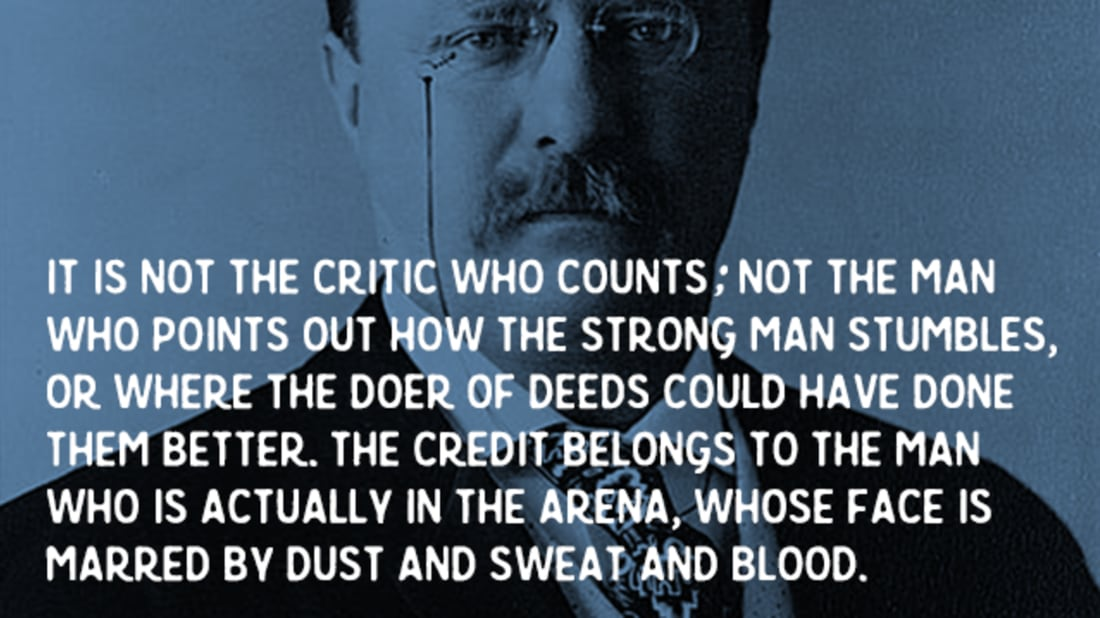 photograph regarding Man in the Arena Free Printable identify Roosevelts \