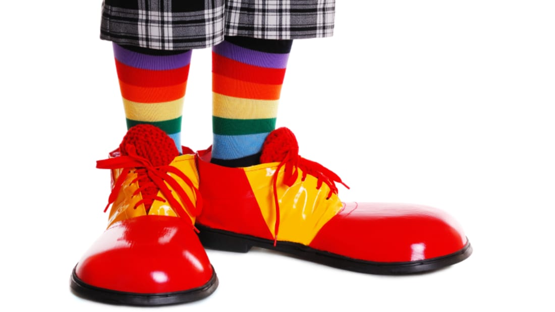 Image result for red shoes clown