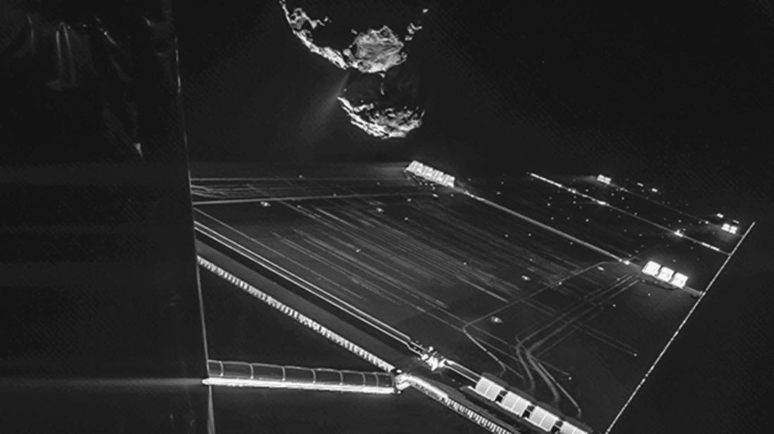 Rosetta snaps a selfie. Courtesy ESA/Rosetta/Philae/CIVA.
