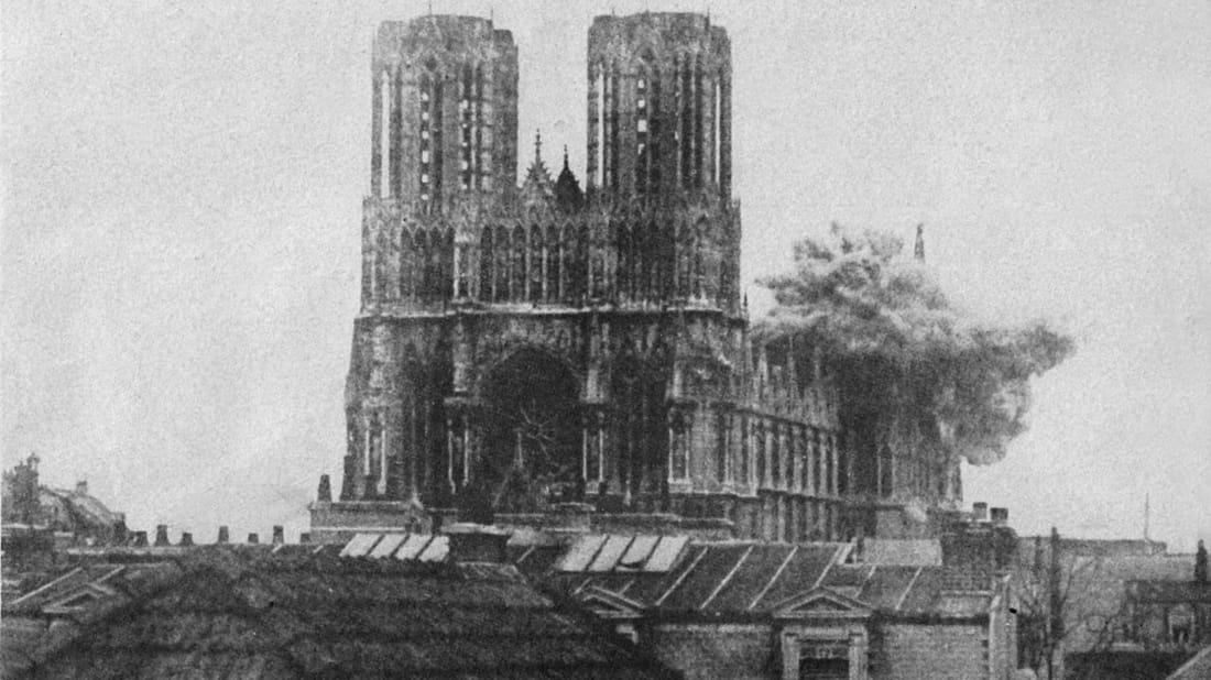 WWI Centennial: Reims Cathedral Burns | Mental Floss