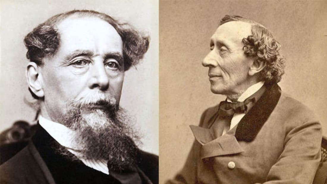Charles Dickens and Hans Christian Andersen via Getty Images