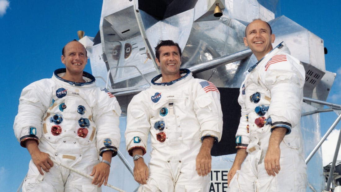 Conrad on the left (via NASA)