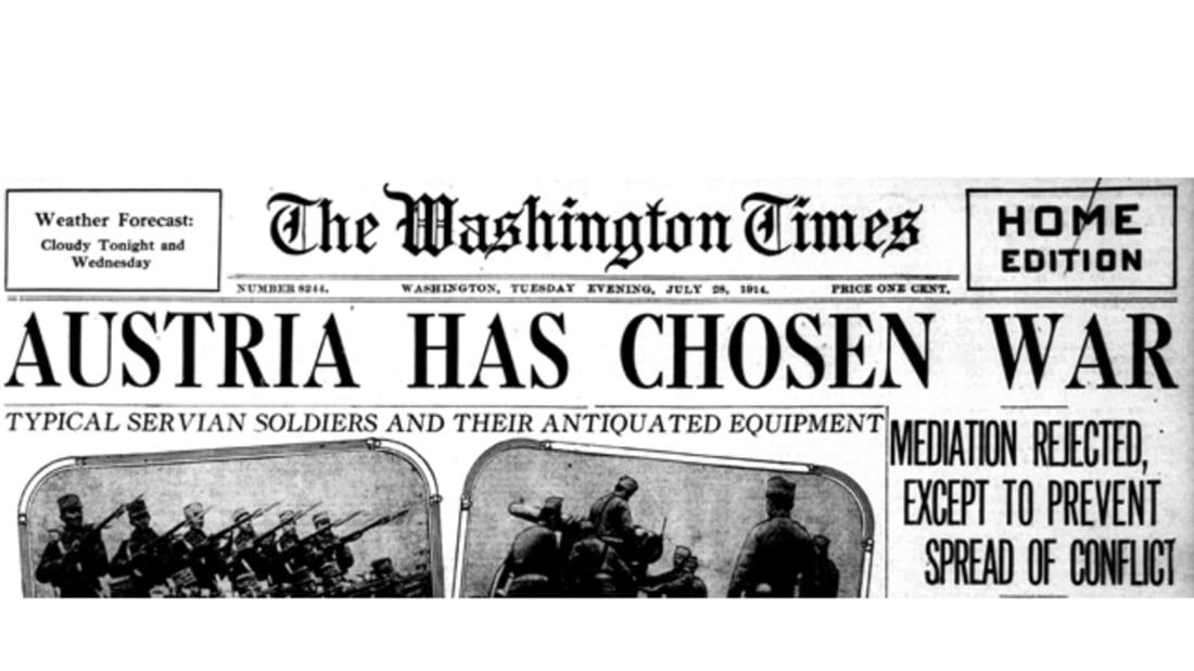 WWI Centennial: Austria-Hungary Declares War on Serbia