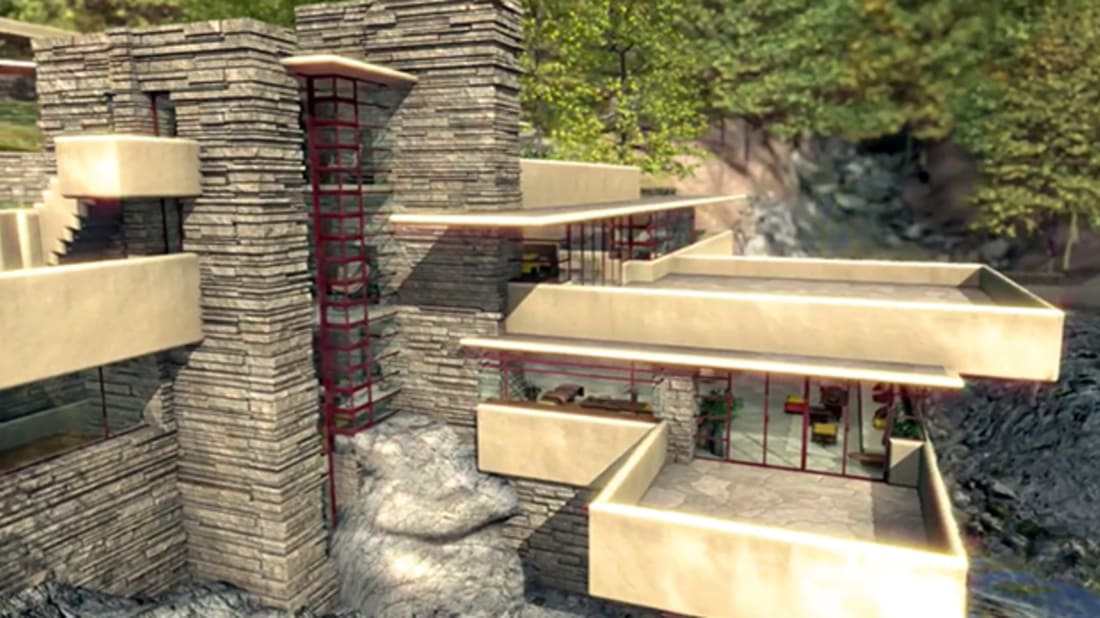 "A 3D Tour of Frank Lloyd Wright's ""Fallingwater"""
