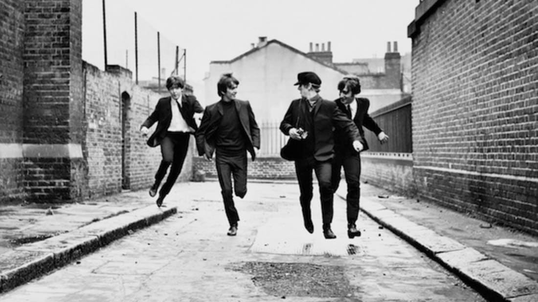 The Beatles in 'A Hard Day's Night' a Janus Films release (c) Bruce and Martha Karsh