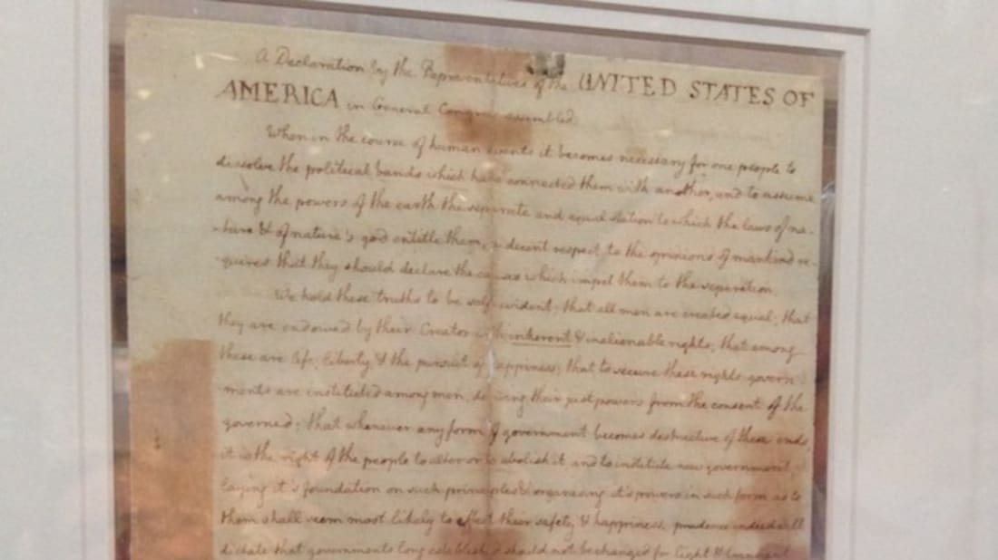 image about Printable Copy of the Declaration of Independence identified as Browse the First Model of the Declaration of Liberty