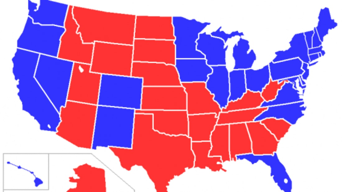 Red States Map Where Did The Idea Of