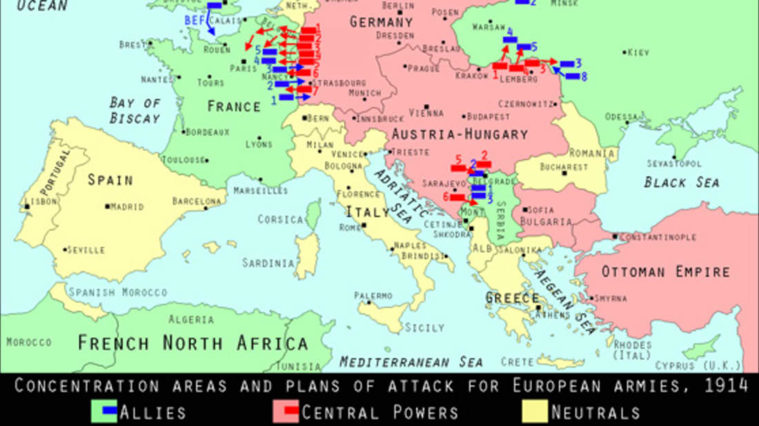 Map Of Germany In 1914.World War I Centennial Russia Promises To Attack Germany Mental Floss