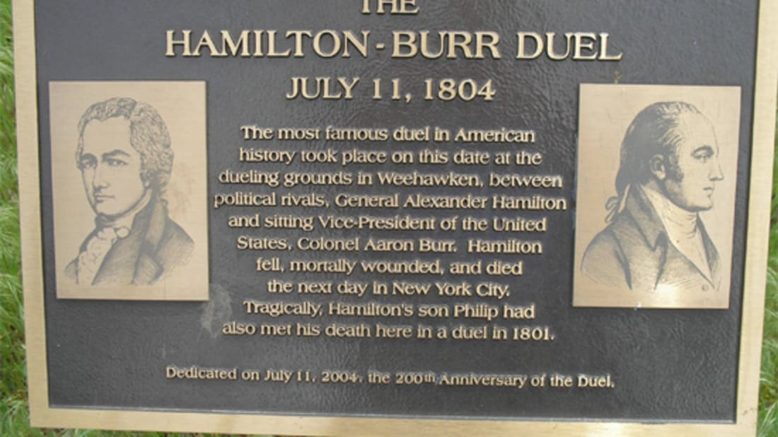 Hamilton's Dueling History, a Haunted Bar and the Bank That Owns the