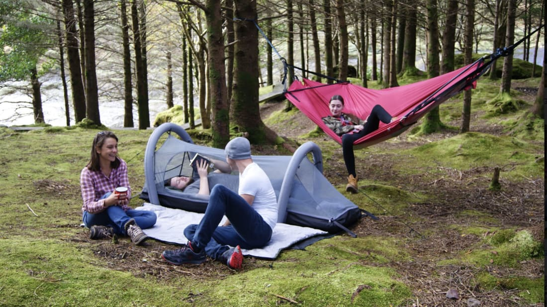 This All-In-One Tent Can Transform Into a Sleeping Bag, Air Mattress, Hammock, and More