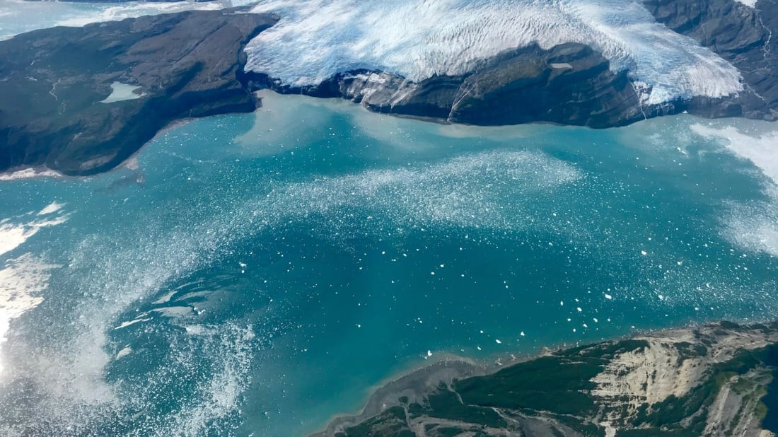 NASA captures a high altitude view of Alaska's Icy Bay in the Wrangell-Saint Elias Wilderness. Just a century ago, this body of water was covered in ice.