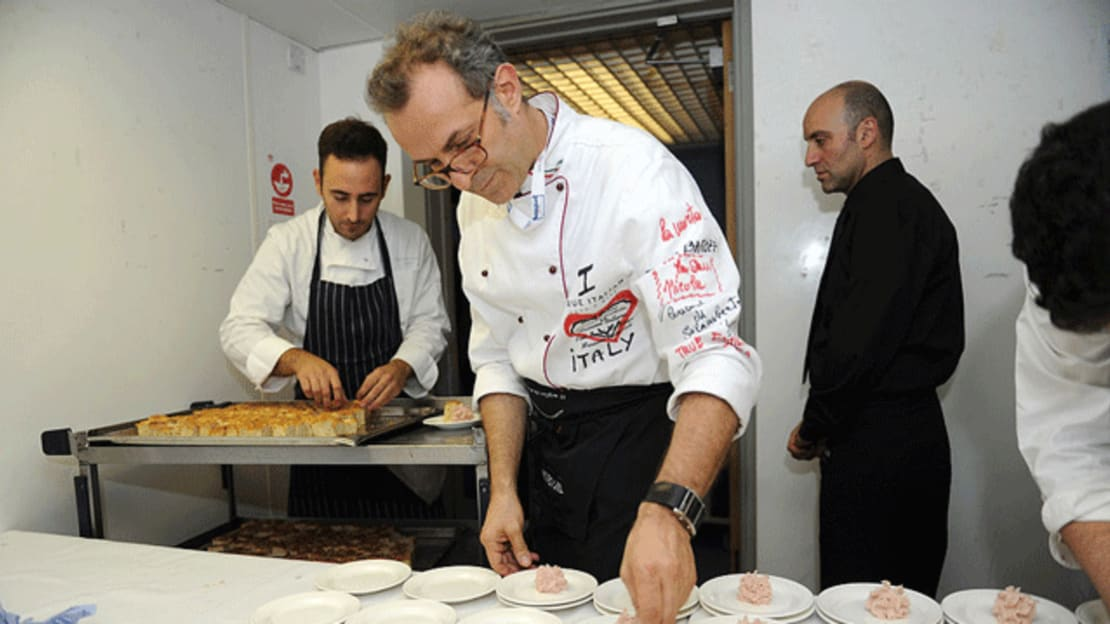 Massimo Bottura at the 2012 Olympics. Image credit: Dino Panato/Getty