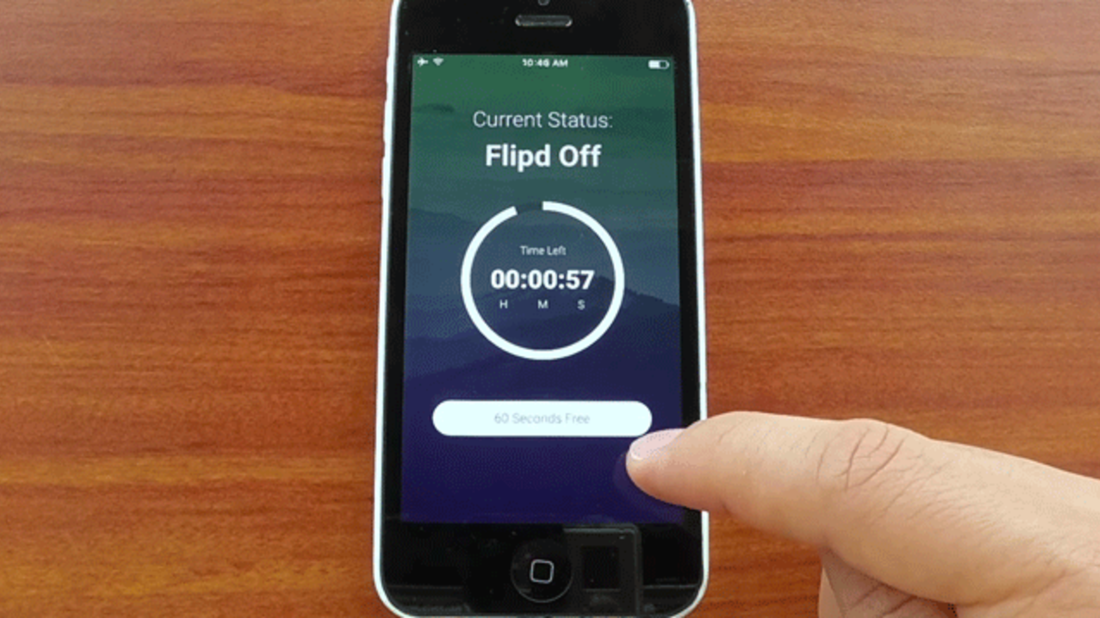 App to lock phone for period of time