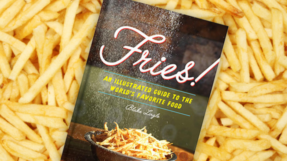 Princeton Architectural Press (book cover); iStock (fries)