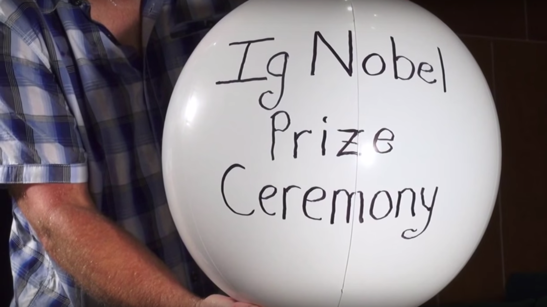 "screencap from ""Ig Nobel Prize Ceremony Promo"" // Improbable Research"