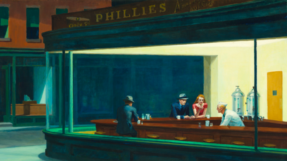 Edward Hopper. Nighthawks, 1942. The Art Institute of Chicago, Friends of American Art Collection.