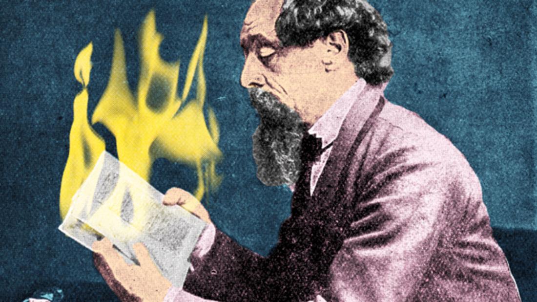 Alamy (Dickens) / IStock (Fire)