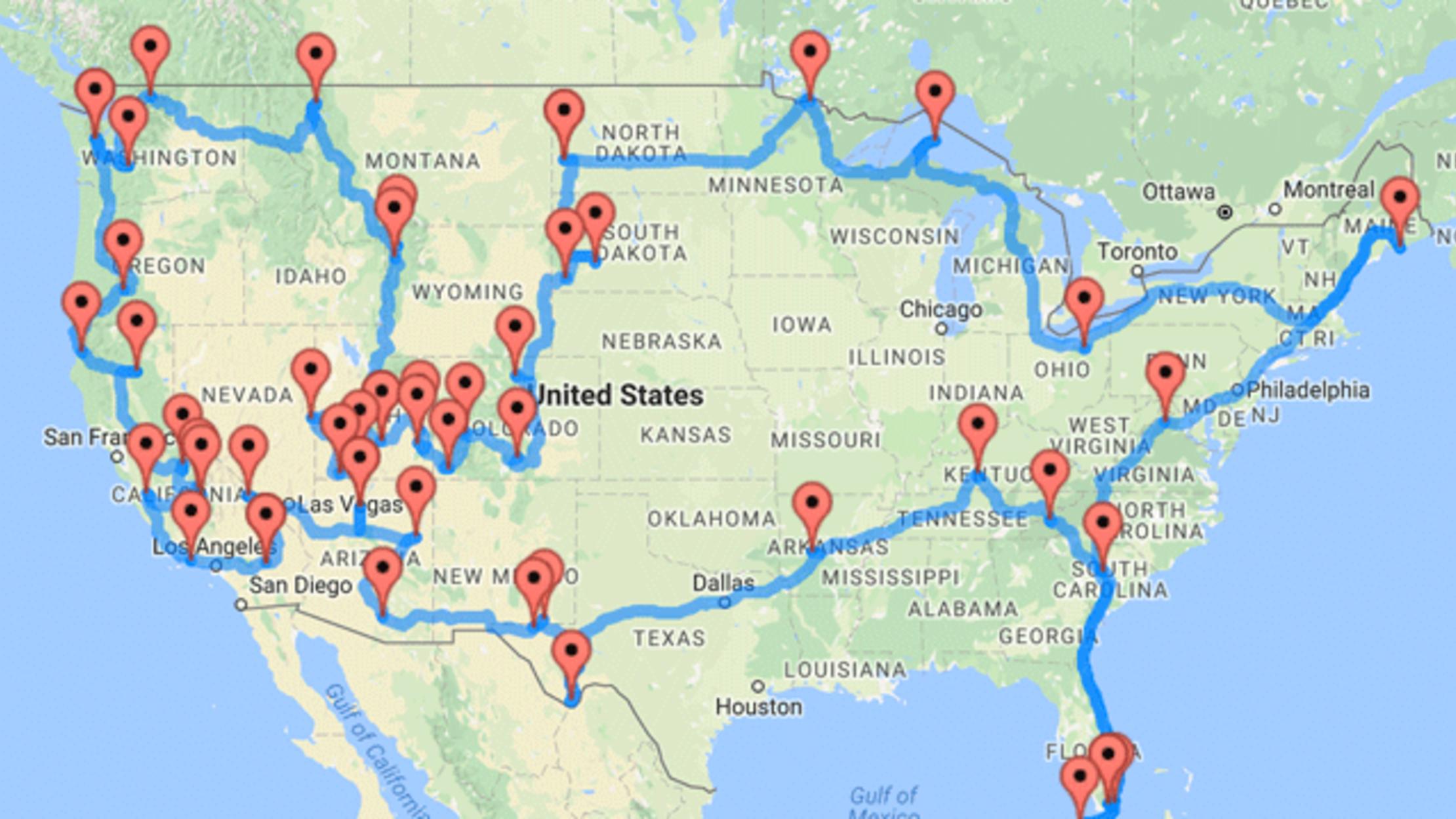 Road Trip Genius Calculates The Shortest Route Through 47 National Parks Mental Floss