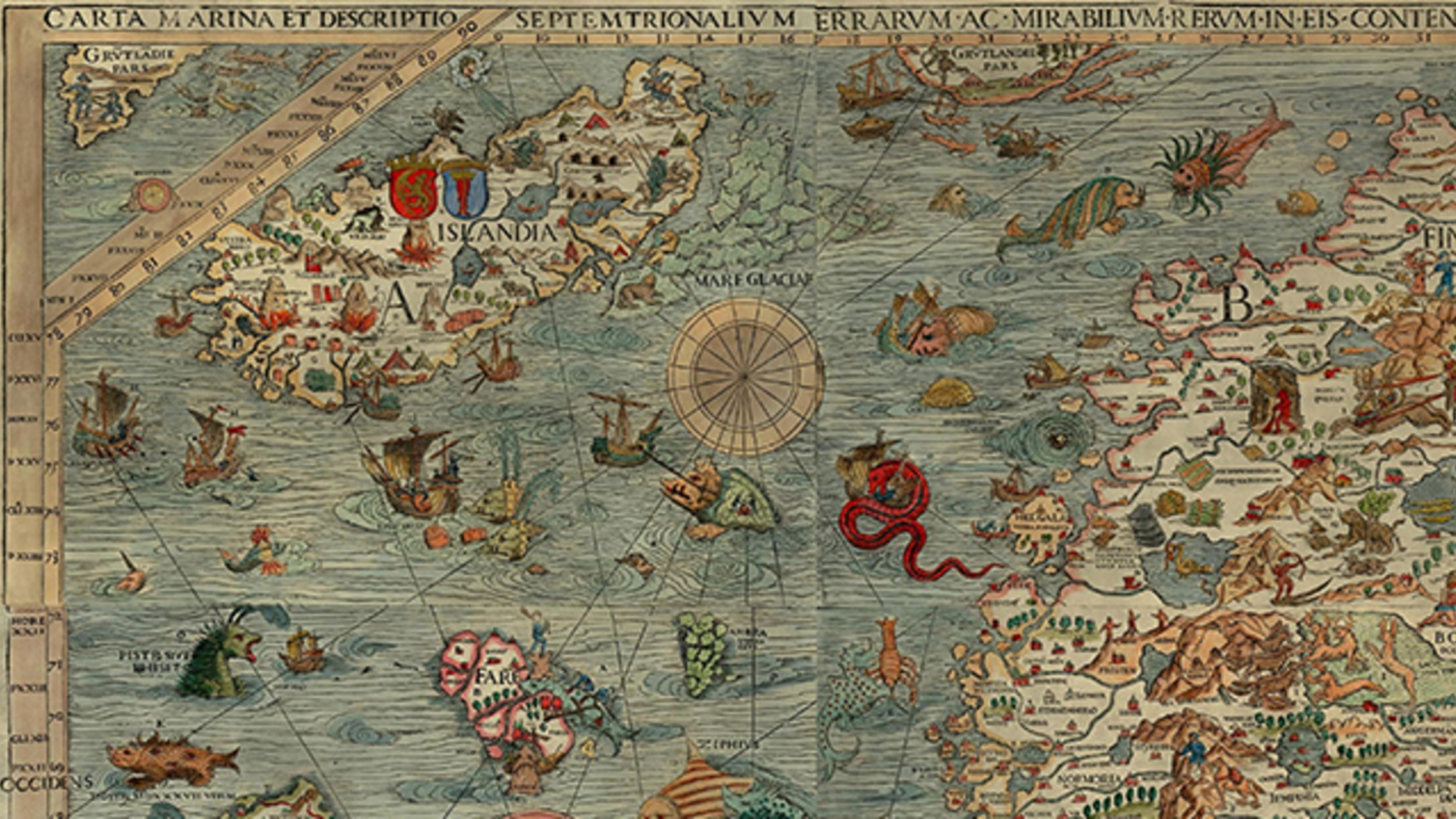 What's With the Sea Monsters on Old Maps?