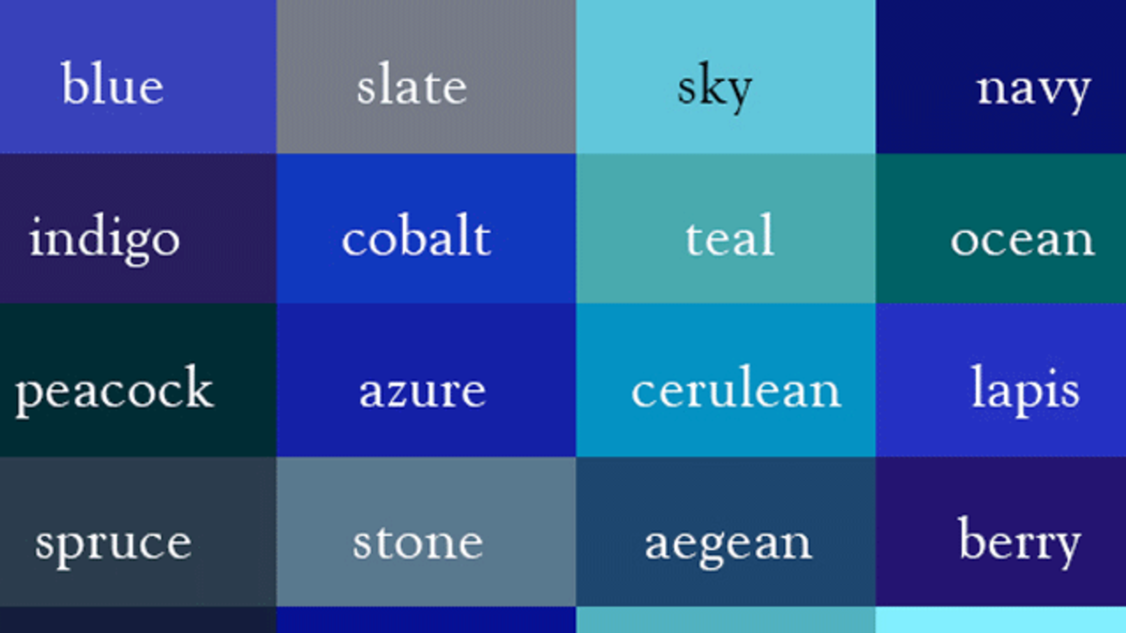 Name every shade of the rainbow with this color thesaurus mental floss