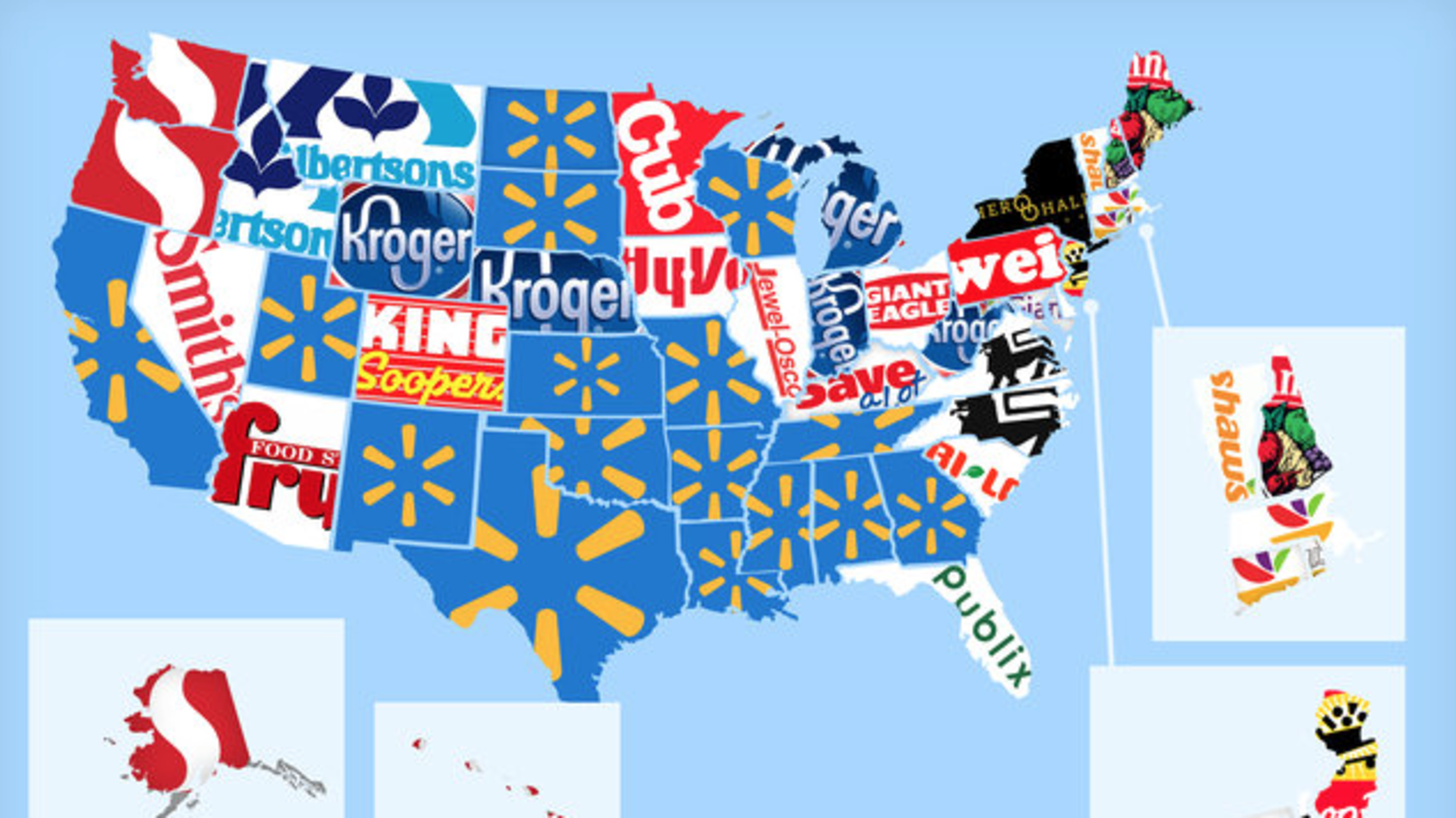 The Most Popular Grocery Store in Every State | Mental Floss