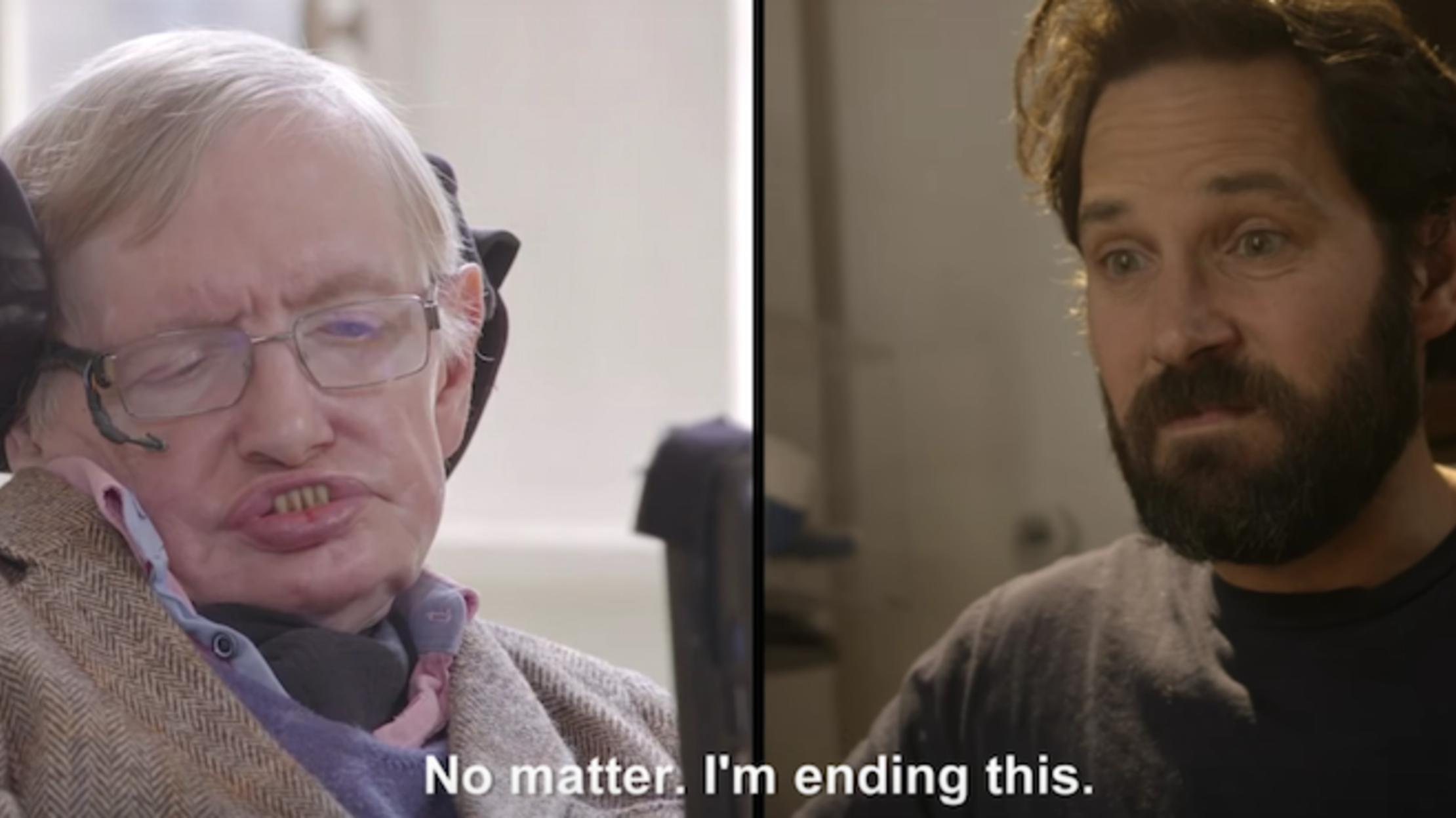Watch Paul Rudd And Stephen Hawking Play An Intense Game