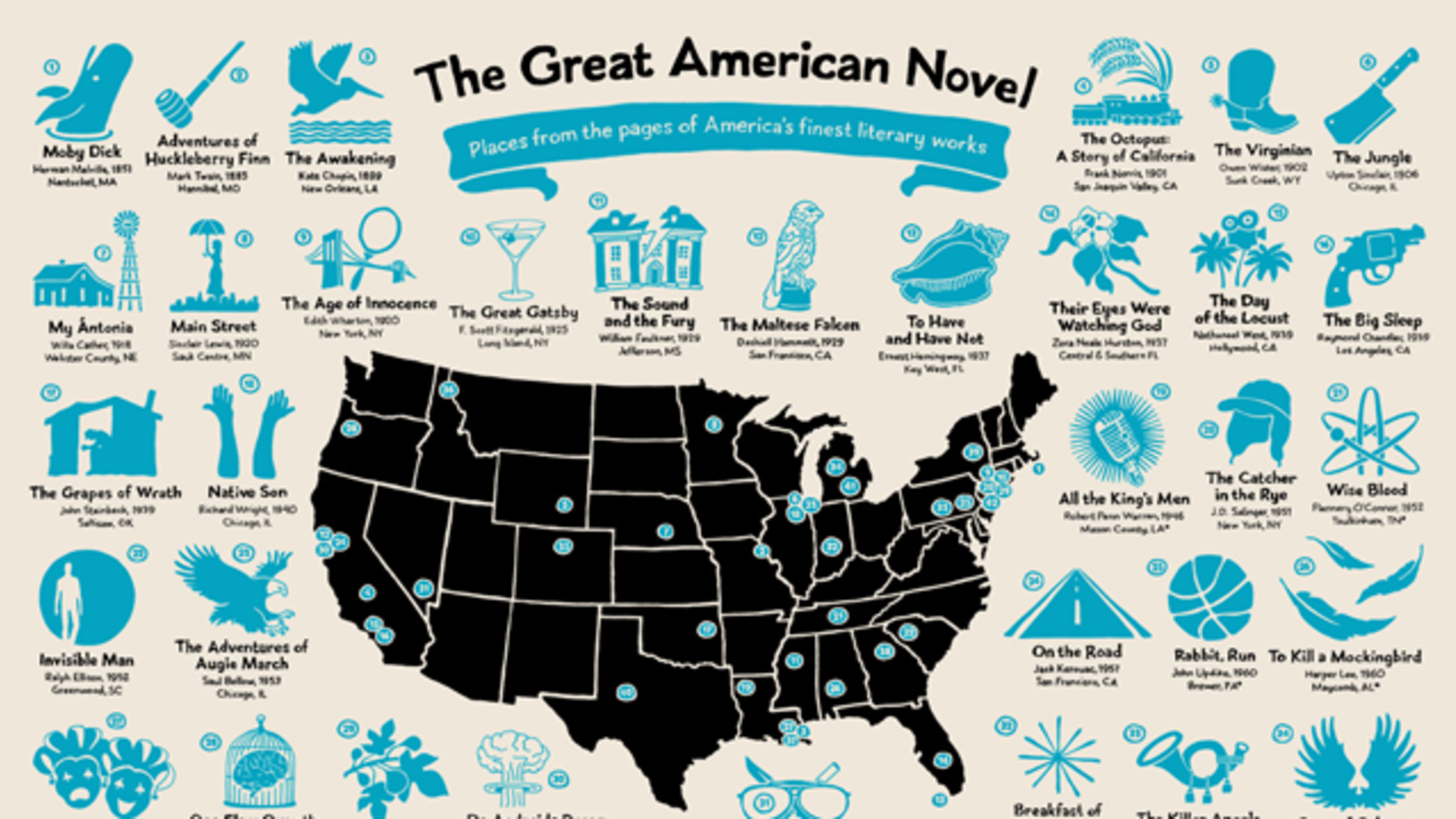 See the Many Locations of the Great American Novel in One ...