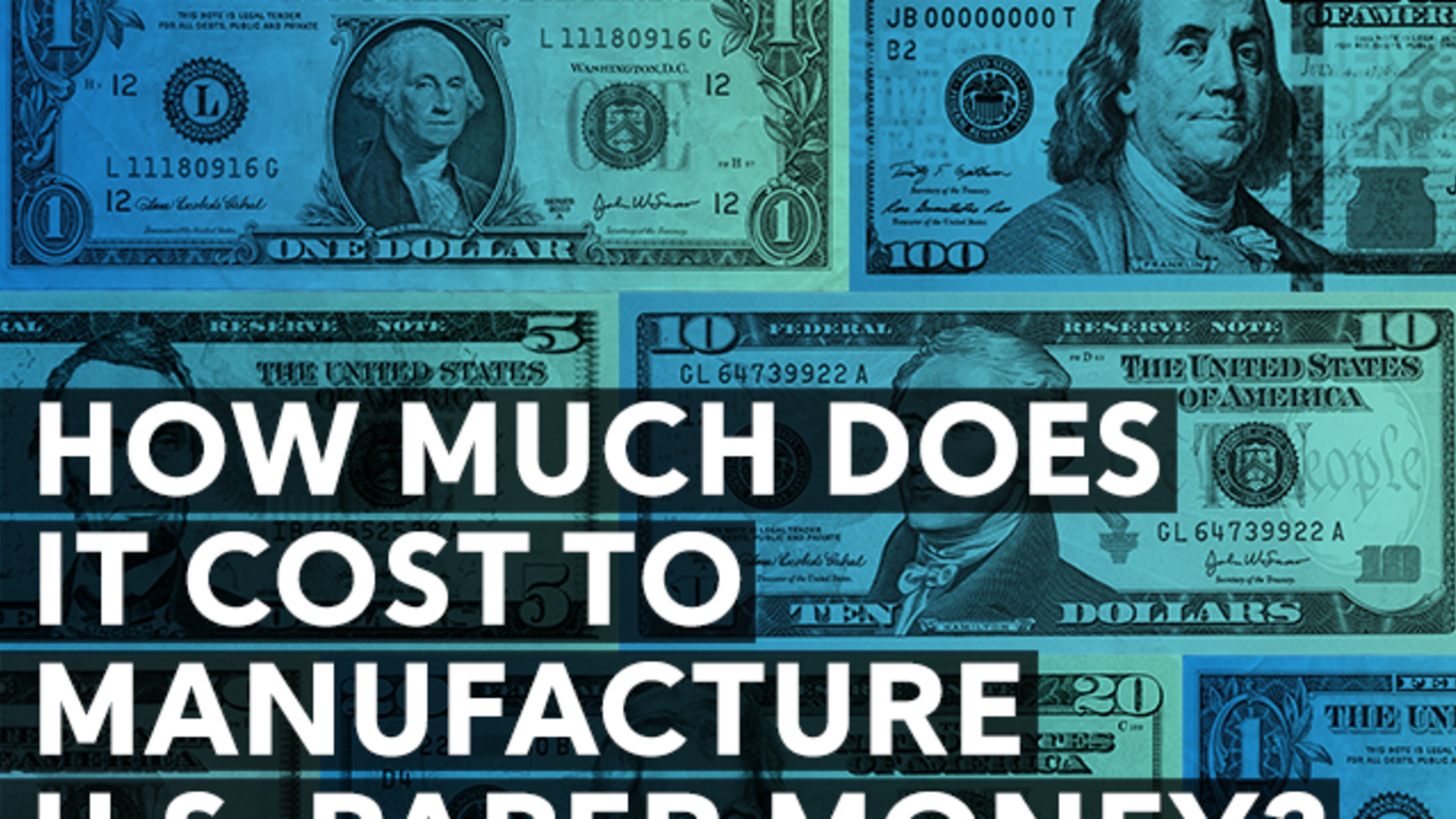 Cost To Manufacture U S Paper Money