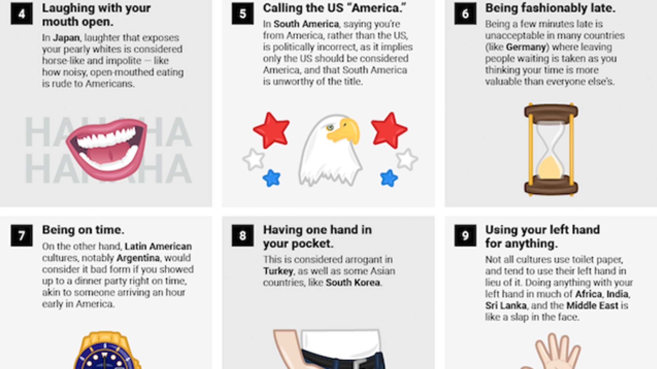 24 American Behaviors Considered Rude in Other Countries