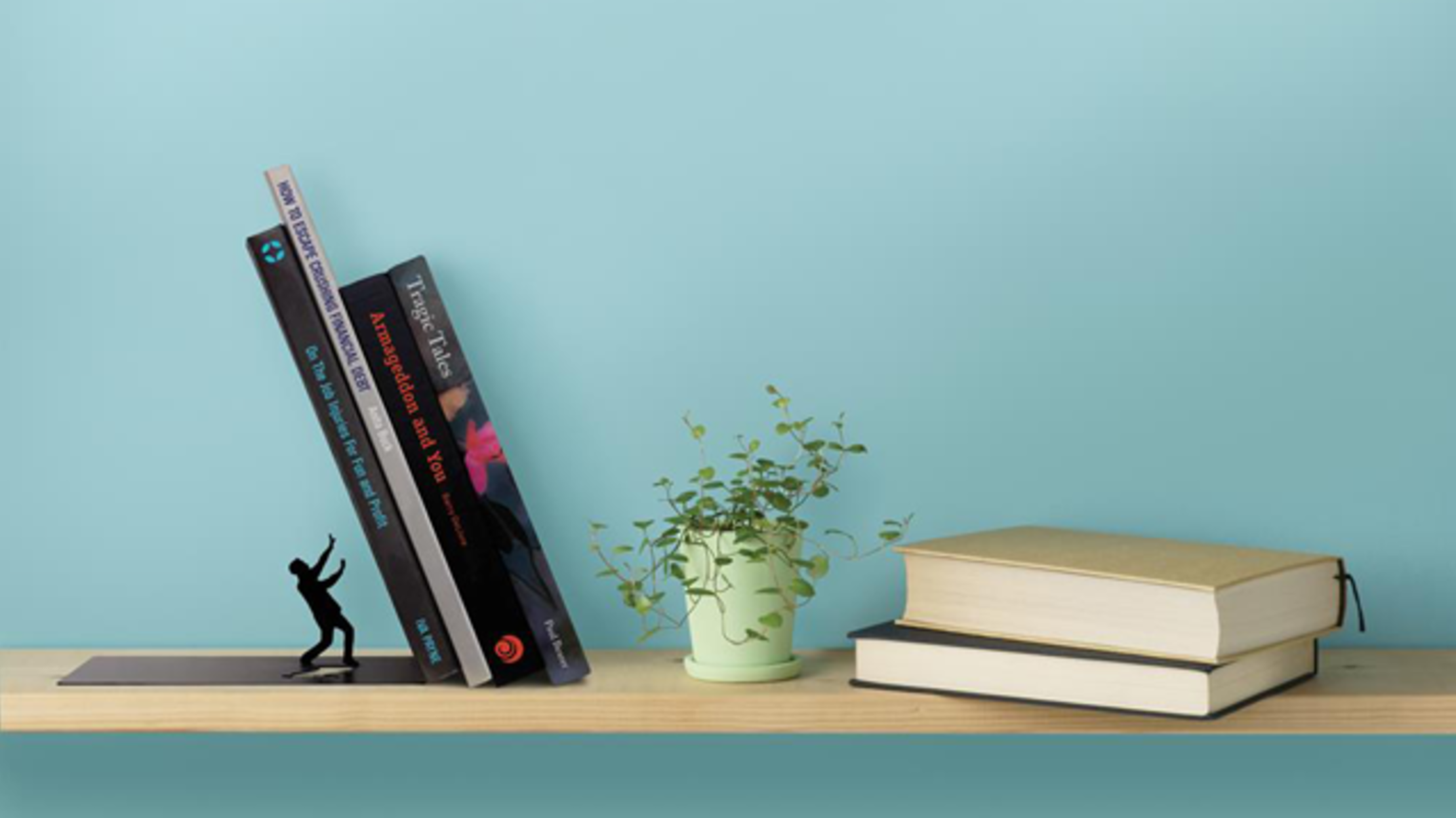 18 Clever Bookends To Keep Your Books Standing Tall