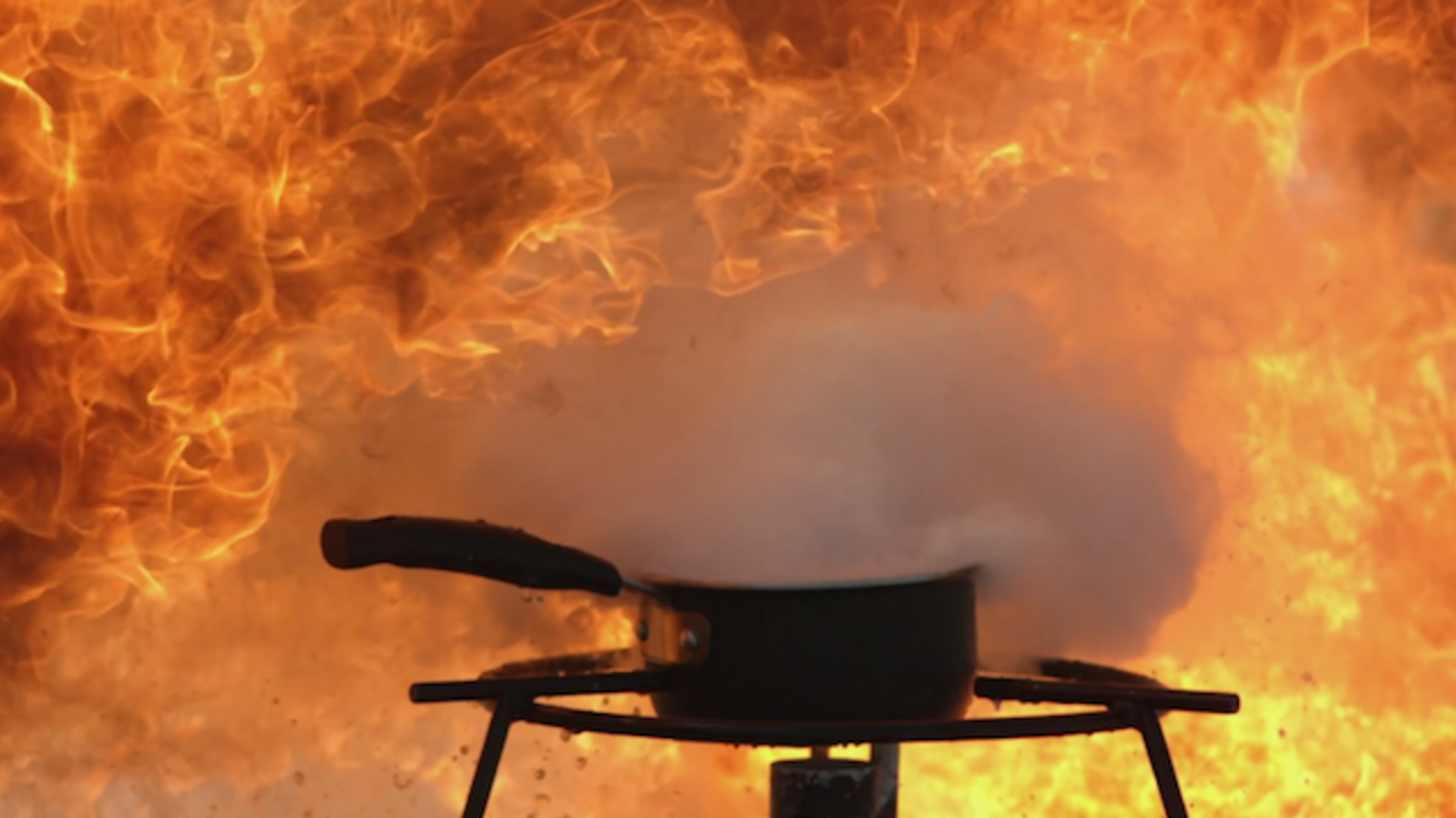 Why You Shouldn T Use Water To Extinguish A Grease Fire Mental Floss