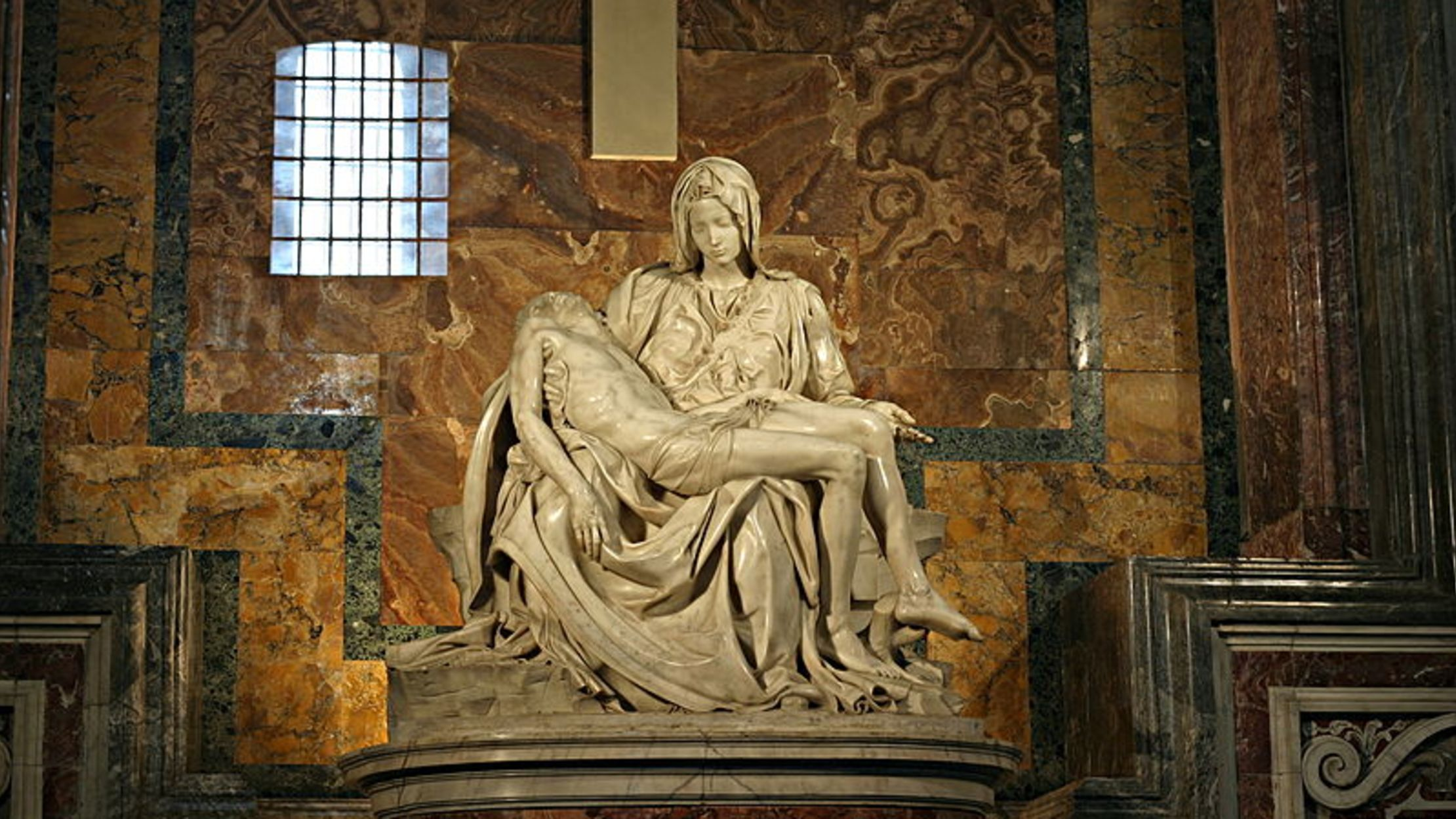 Image result for Michelangelo's Pieta, A Secret Message of Jesus's Life