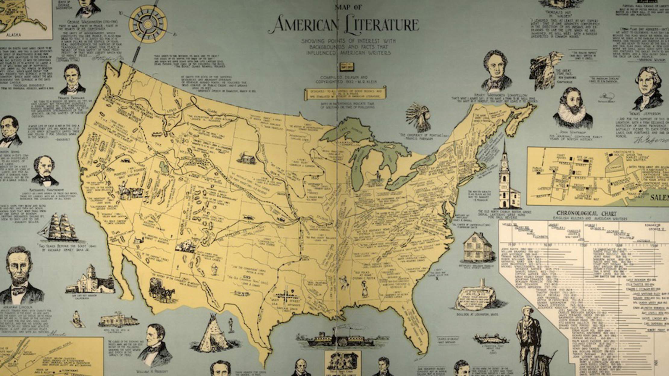 18 Literary Maps of the United States | Mental Floss