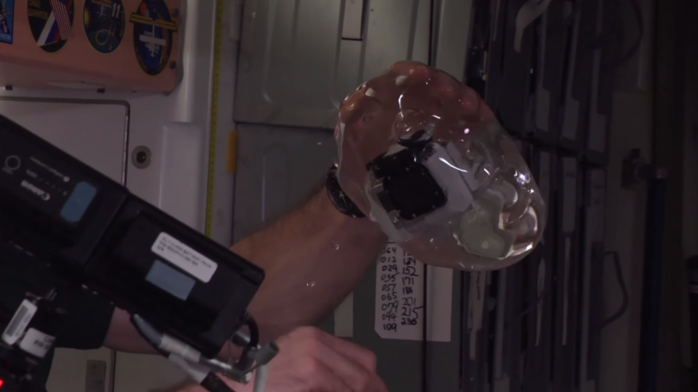 Astronauts on the ISS Put a GoPro in a Sphere of Water