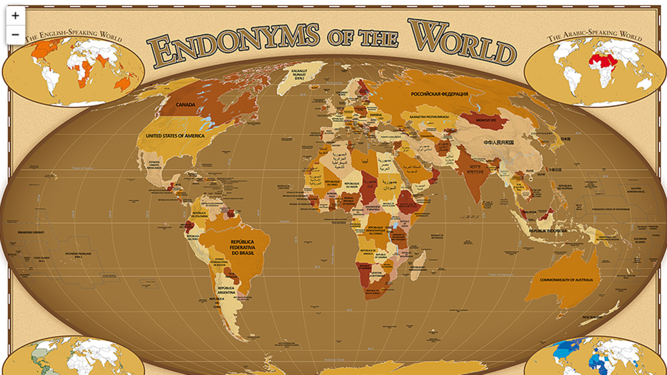 Countries as Named in Their Own Languages | Mental Floss