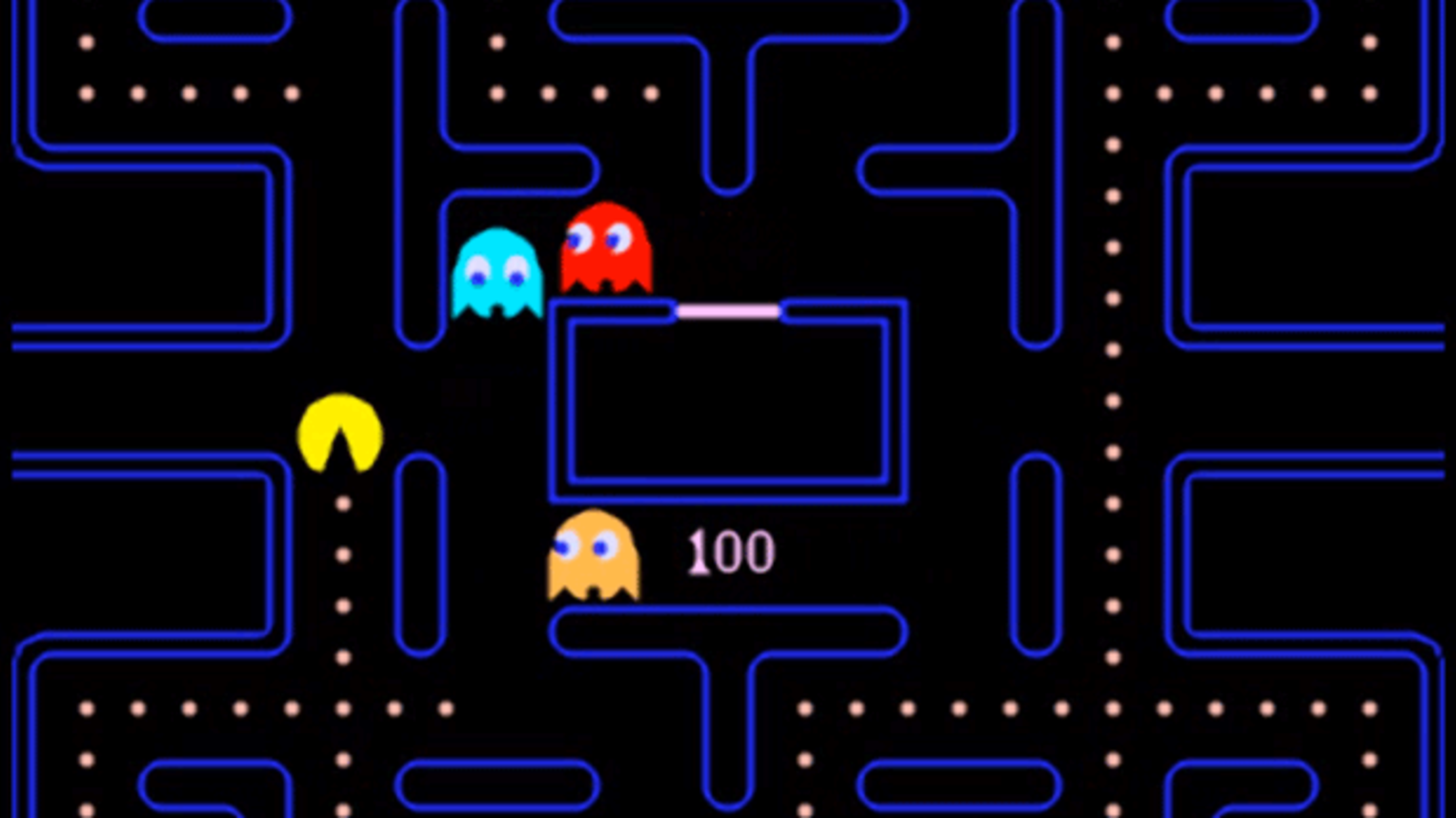 This is a picture of Zany Pictures of Pacman Ghosts